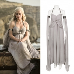 New Daenerys Targaryen Cosplay Costume A Song of Ice and Fire Dress Game Of Thrones