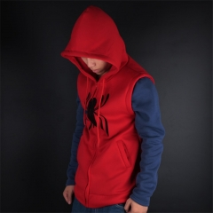 Unisex Spiderman Homecoming Costume Coat Hoodie Spiderman Peter Zipper Men's Sweater Jacket Halloween Cosplay Props