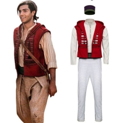 2019 Movie Aladdin Outfit Men Cosplay Costume Adult