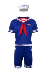 Steve Scoops Ahoy Cosplay Costume Stranger Things Season 3 Kids Shirt Shorts Hat