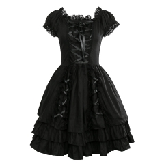 Women Medieval Vintage Gowns Robes Gothic Lolita Dress