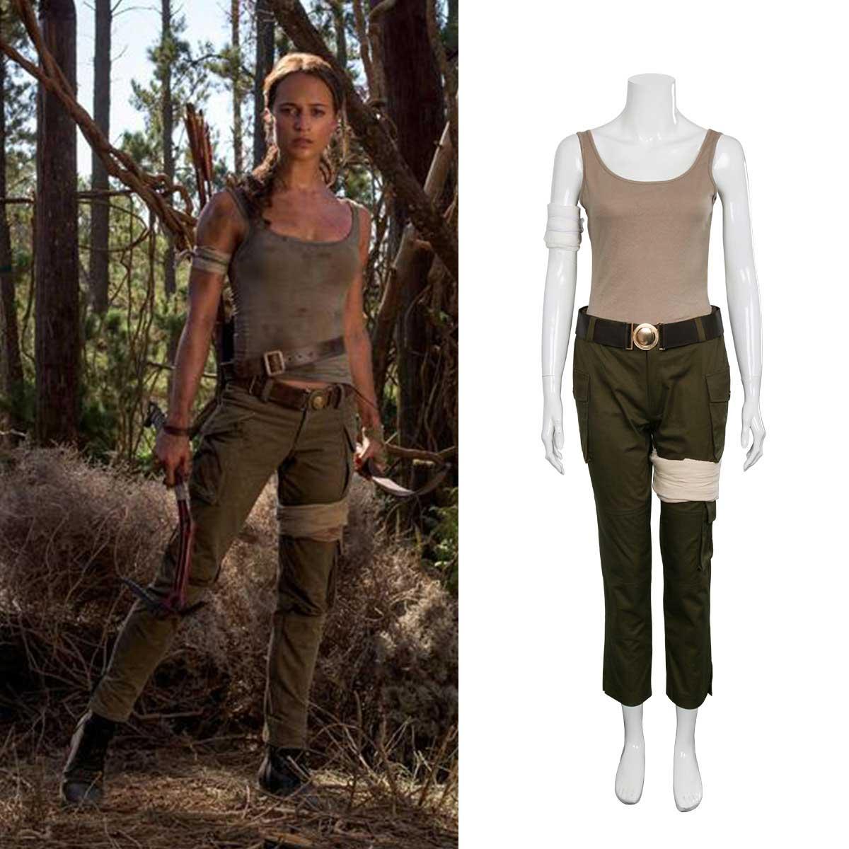 2018 Movie Tomb Raider Lara Croft Outfit Cosplay Costume
