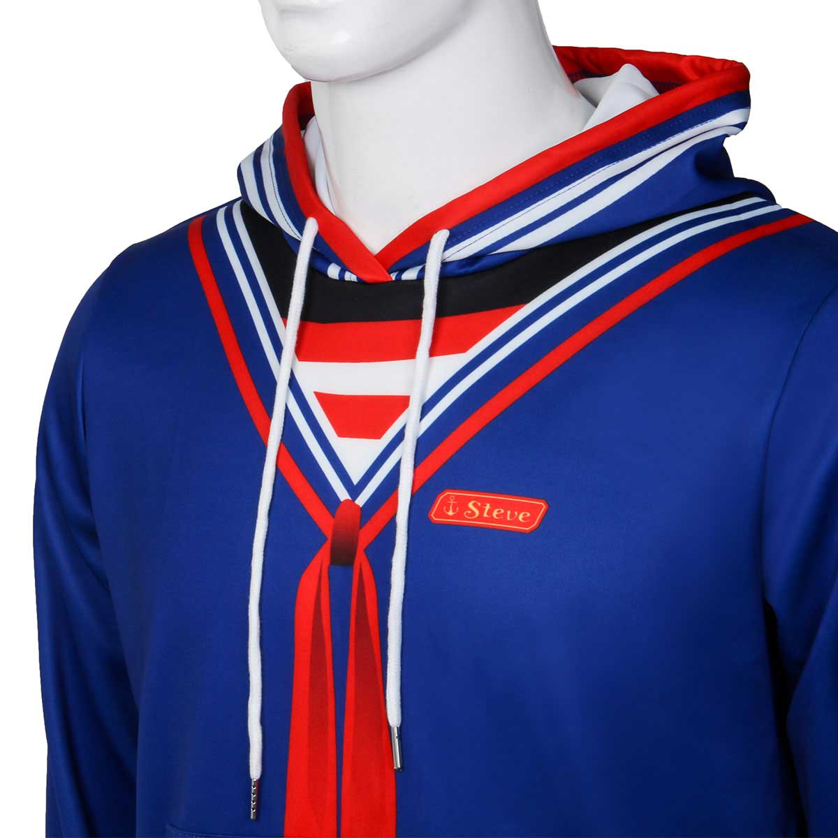 Stranger Things Scoops Ahoy Steve Cosplay Costume Pullover Hoodie Sweatshirt