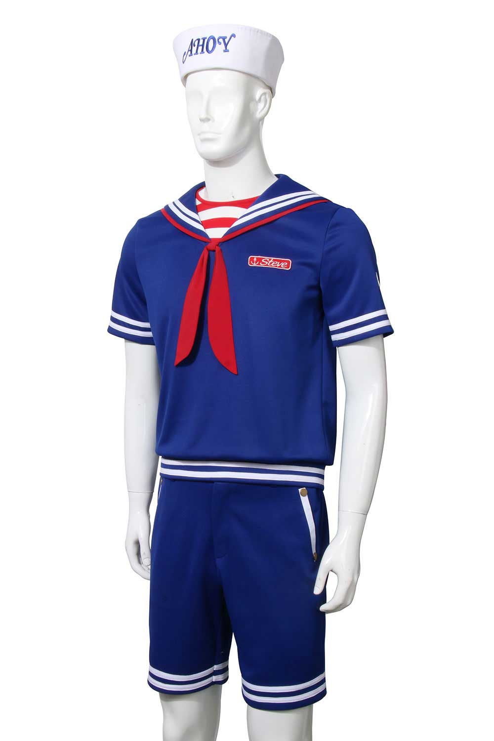 Stranger Things 3 Scoops Ahoy Steve Harrington Cosplay Costume Adult
