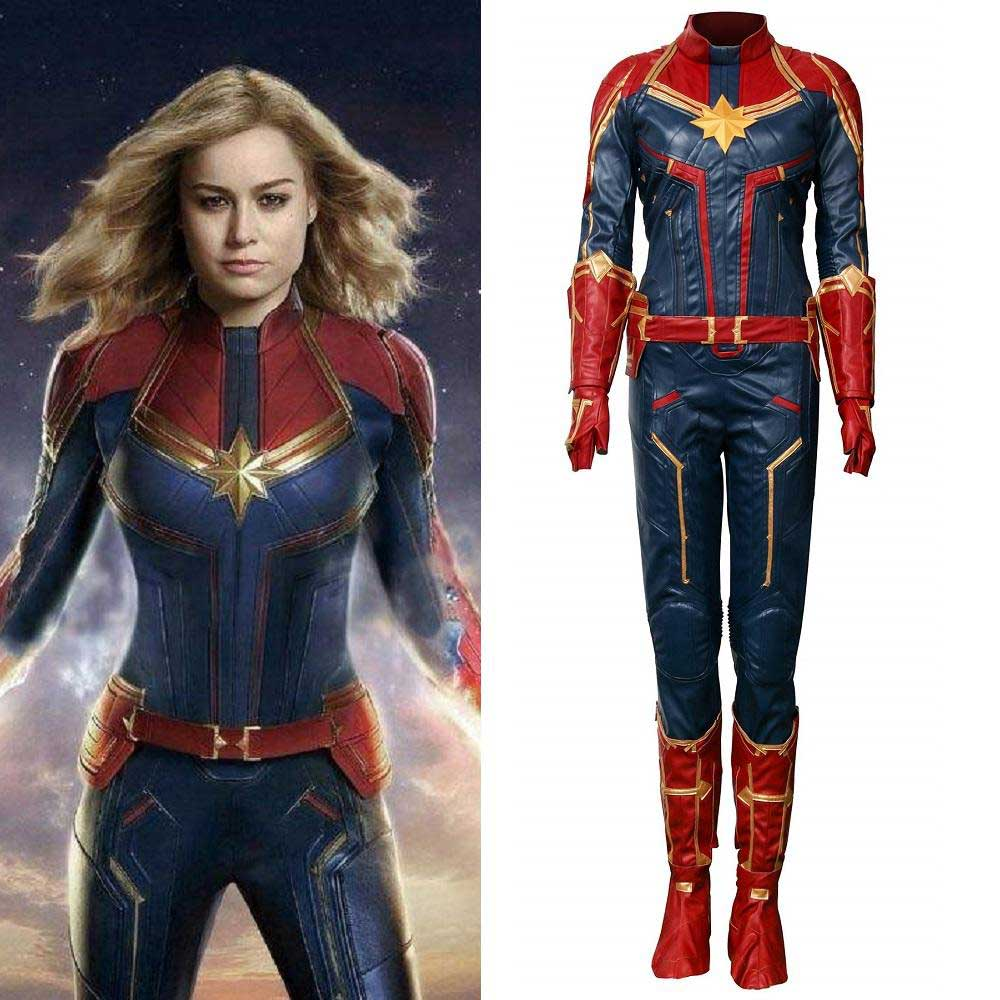 Captain Marvel Carol Danvers Cosplay Costume Jumpsuit Women Superhero Bodysuit Halloween Onesies Not cosplay or generic costume is not allowed. captain marvel carol danvers cosplay