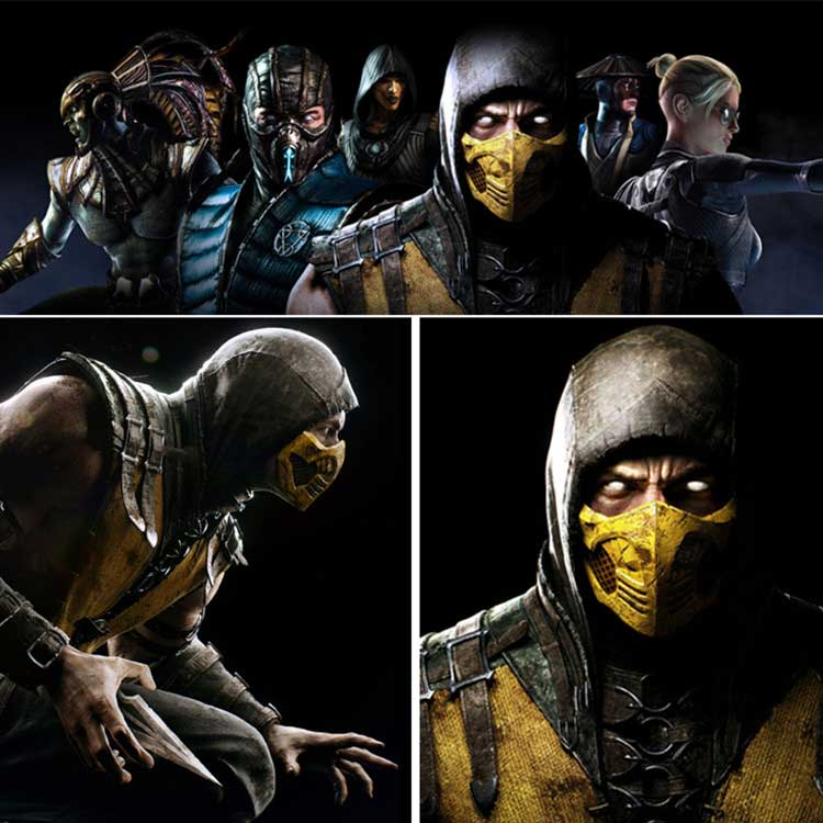 Takerlama Mortal Kombat X Scorpion Mask For Cosplay Halloween
