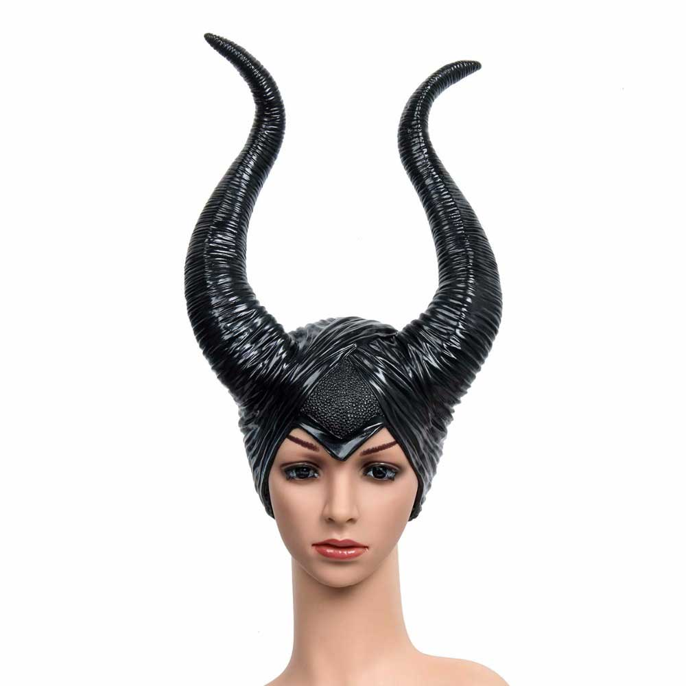 Creepy Maleficent Horns Hats Mask for Adult