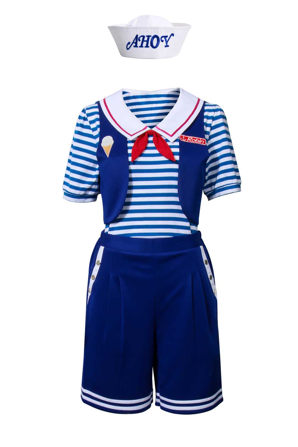 Stranger Things Season 3 Robin Scoops Ahoy Cosplay Costume For Adult
