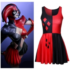 Adult Harley Quinn Club Dress Female Joker Halloween Cosplay Costume