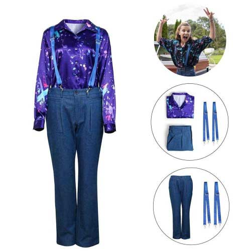 Eleven Cosplay Costume For Stranger Things Season 3 Costume Set