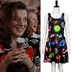 Eleven Cosplay Floral Dress Stranger Things Season 3 Costume