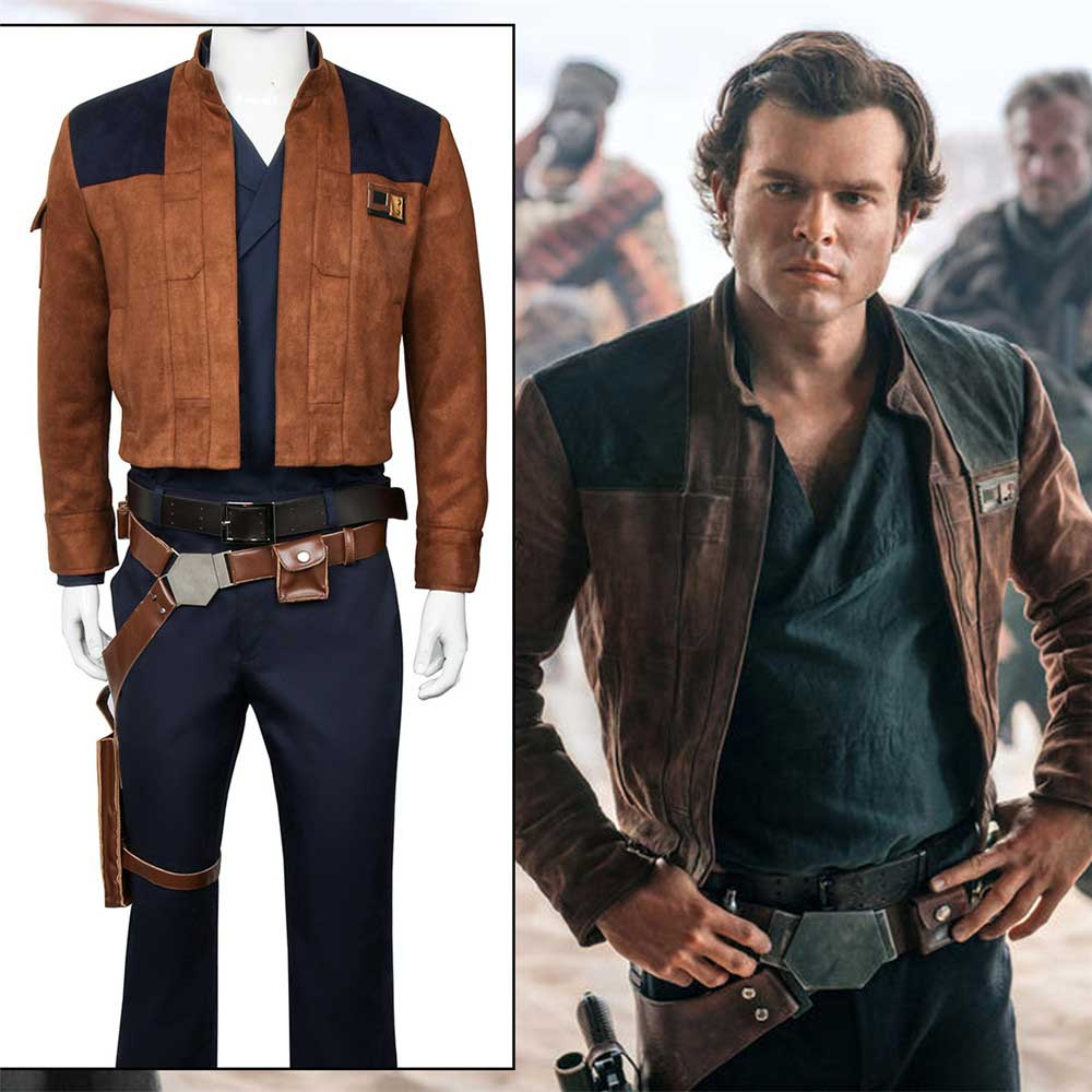 A Star Wars Story Han Solo Cosplay Costume Suit Uniform Outfit Jacket Solo