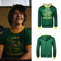 Movie Stranger Things Season 3 Dustin Hoodies Camp Know Where Cosplay Costumes T Shirt