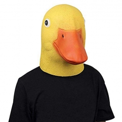 Takerlama Novelty Halloween Latex Yellow Duck Mask Adult