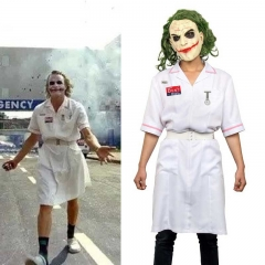 Takerlama Joker Nurse Costume Batman Dark Knight Rise Joker Arthur Fleck Cosplay Dress With Mask