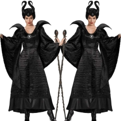 Movie Maleficent 2 Halloween Cosplay Costume Evil Witch Angelina Jolie Outfits
