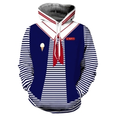 Robin Scoops Ahoy Hoodie For Stranger Things Season 3  Cosplay Halloween Costumes