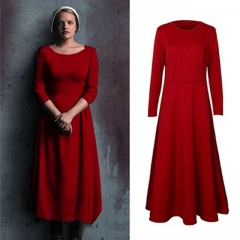 The Handmaid's Tale Offred Red Cosplay Dress Halloween-Takerlama