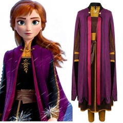 Frozen 2 Adult Anna Cosplay Costume Princess Dress