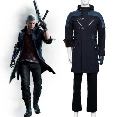 DMC Devil May Cry V Nero Outfit Cosplay Costume Trench Coat Glove Pants
