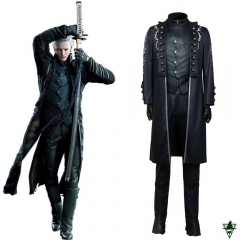 Devil May Cry5 Vergil Cosplay Costume Men Coat Whole Set Suit