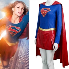 Supergirl Kara Zor-l Cosplay Costume Set Super Woman Sexy Fancy Dress