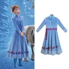 Olaf's Frozen Adventure Anna Dress Outfit Cosplay Costume For Kids