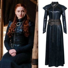 Game of Thrones 8 Sansa Stark Cosplay Costume For Women