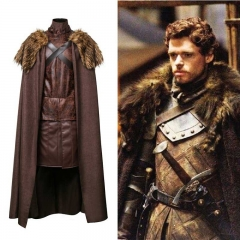 Game of Thrones robb stark North King Medival Knight Cloak Cosplay Costume