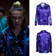 Stranger Things Season 3 Eleven Long Sleeves Shirt 11 Cosplay Costume