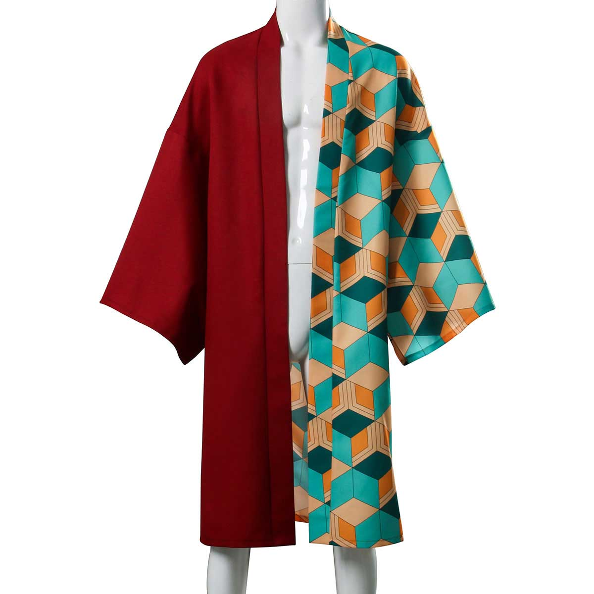 Tomioka Giyuu Plaid Cloak Demon Slayer: Kimetsu no Yaiba Cosplay Costume