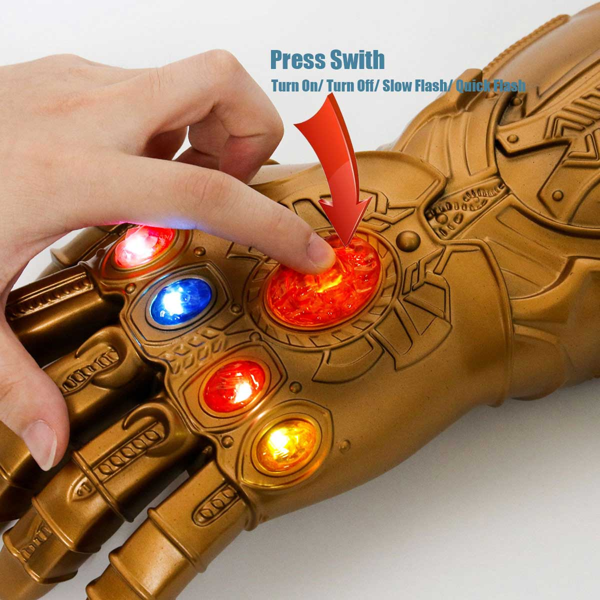 Avengers Infinity War Thanos Led Gloves Adult Light Up Gauntlet Halloween Gift Cosplay Props-Takerlama