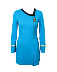 Star Trek Blue Starfleet Uniform Cosplay Costume
