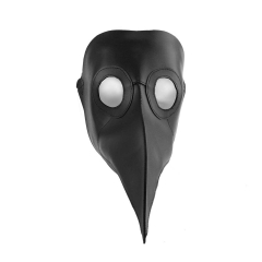 Steampunk Black Death Plague Doctor Cospaly Mask PU Leather Birds Beak Masks