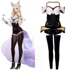 League of Legends LOL the Nine-Tailed Fox Ahri KDA Skin Cosplay Costume