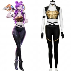 KDA Kaisa Leather Punk Uniform Cosplay Costume LOL League of Legends