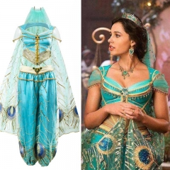 Disney Aladdin Princess Jasmine Dress Cosplay Costume Adult Women