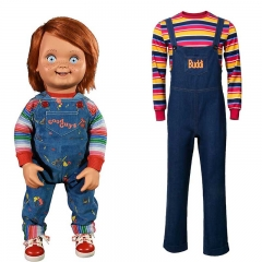 Takerlama Child's Play Buddi Men Cosplay Costume Chucky Voodoo Halloween Outfits