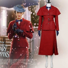 New Disney Movie Mary Poppins Cosplay Costume Fancy Dress Halloween Cosplay Costume