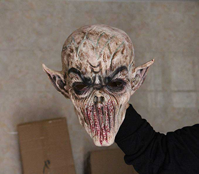Halloween Scary Demon Alien Bloody Monster Latex Masks Cosplay Props
