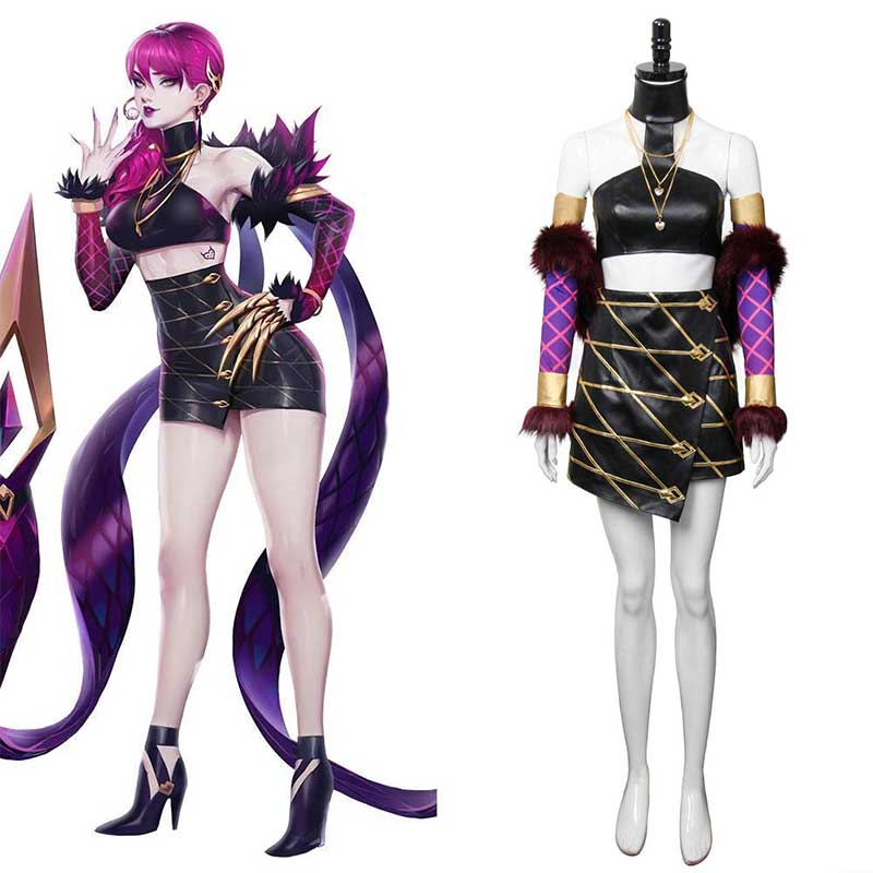 League of Legends Agony's Embrace Evelynn KDA Skin Cosplay Costume