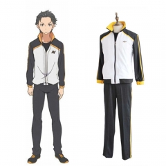 Re: Zero Starting Life in Another World Natsuki Subaru Cosplay Jacket Pant