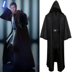 Star Wars Robe Obi Wan Kenobi Jedi Cosplay Costume Outfit Tops Cloak Pant Belt