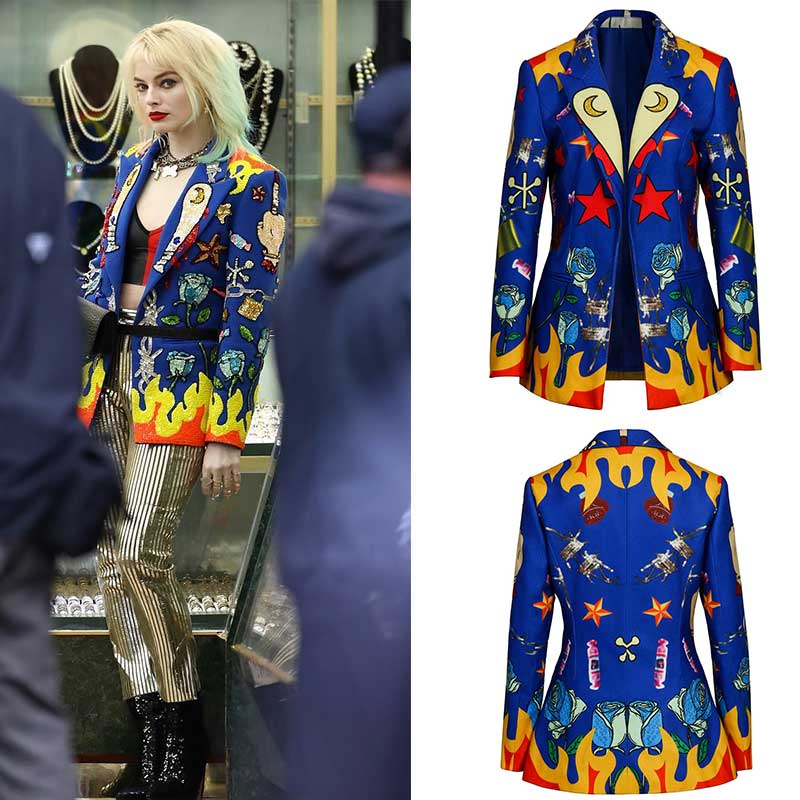 Birds Of Prey Harley Quinn Halloween Cosplay Blazer Female Joker Margot Robbie Costume Set For Women Takerlama