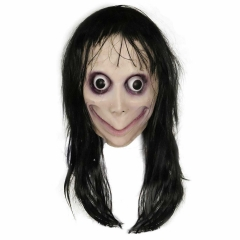 The Ring Momo Costume Latex Mask with Long Hair