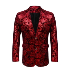 Night Club Bar Men's Blazer Suit Stage Wedding Banquet Party