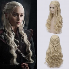 Game of Thrones Season 7 Daenerys Targaryen Cosplay Wig Hair