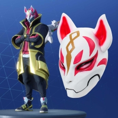 Game Fortnite Cosplay Battle Royal Drift Fox Halloween Costume Mask Fortress Night Props