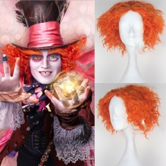Alice in Wonderland 2 Mad Hatter Tarrant Hightop Orange Wig