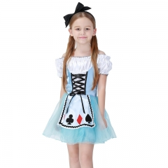 Alice in Wonderland Kids Cosplay Costume Girl Princess Dress